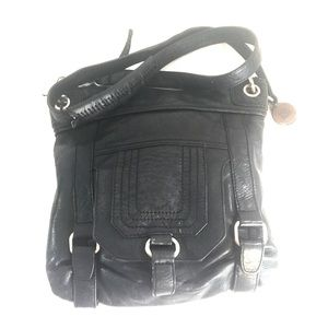 The Sak leather crossbody Messenger bag purse
